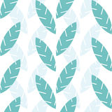 Print. Pattern of leaves. Leaves simple form in a minimalist style. white background, leaves color Royalty Free Stock Photos