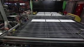 Print patterned ceramic tile, pattern on ceramic tiles. Industrial interior, indors