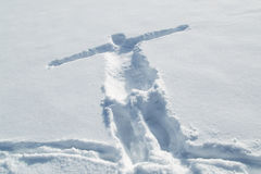 Print of a person body on snow Royalty Free Stock Image