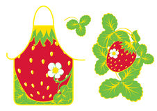 Print for pinafore feminine. With strawberry Royalty Free Stock Photo