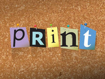 Print Pinned Paper Concept Illustration Stock Photo