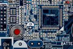Print Plate. With a computer circuits Royalty Free Stock Photography