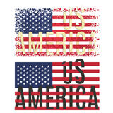 Print Poster Apparel T shirt design  American flag Royalty Free Stock Photo