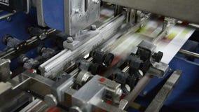 Print press machine stock video
