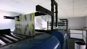 Print press typoghraphy in work stock video footage