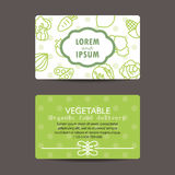 Print preview Business Card, fresh organic vegetables Royalty Free Stock Photography