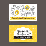 Print preview Business Card, Nursery And preschool Royalty Free Stock Image