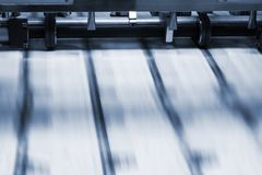 Print process. In a modern printing house royalty free stock photos
