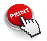Print push button Royalty Free Stock Photography