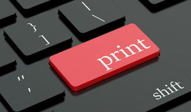 Print red hot key on keyboard Royalty Free Stock Photography