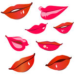Print of red lips. Royalty Free Stock Photo