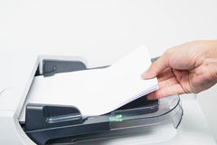 Print and scan the business document Stock Images