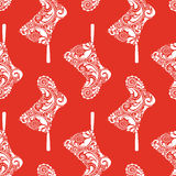 Print. Seamless Christmas pattern. Royalty Free Stock Images