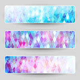 Print. Set of banners with geometric texture stock illustration
