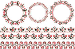 Print Set of ethnic round ornament Stock Image