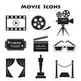 Set of Movie Icons. Cinema symbols Stock Images