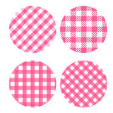 Print. Set round backdrop of seamless checkered patterns. Vector concept background Picnic Stock Images