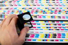 Print sheet color quality - color menagement royalty free stock photos