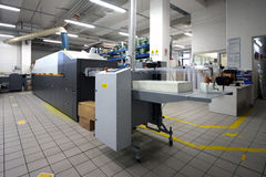 Print Shop - Digital press printing machine royalty free stock image
