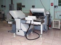 Print shop - Finishing line Stock Images