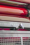 Print shop offset machine red rollers, close up Royalty Free Stock Image