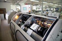 Print shop (press printing) - Finishing line Royalty Free Stock Photos