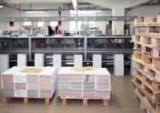 Print shop (press printing) - Finishing line Stock Image