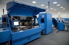 Print shop (press printing) - Finishing line Royalty Free Stock Images