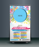 Print Shop Roll Up Banner Royalty Free Stock Image