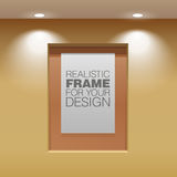 Print Showroom Panel. Showroom Panel. Vertical poster hanging on the wall in the interior. For Mock up Your Design. vector illustration Royalty Free Stock Photography