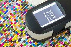 Print Spectrophotometer color measurement Royalty Free Stock Photo