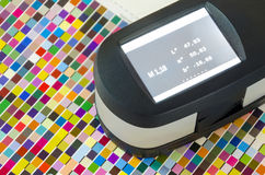 Print Spectrophotometer color measurement Stock Photo