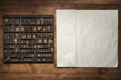 Print still life with lettering Stock Images