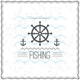 Print on t-shirt design with a textured marine theme Stock Photo