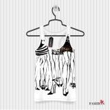 Print for T-shirt - fashion illustration Stock Images