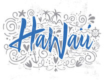 Print for T-shirt Hawaii. Royalty Free Stock Photo
