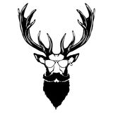 Print on t-shirt `Isolated illustration of a deer head`. Isolated illustration of a deer head stock illustration