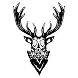 Print on t-shirt `Isolated illustration of a deer head`. Isolated illustration of a deer head Royalty Free Stock Photo