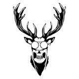 Print on t-shirt `Isolated illustration of a deer head`. Isolated illustration of a deer head Stock Images