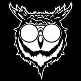 Print on t-shirt `Vector illustration of a head of an owl`. Vector illustration of a head of an owl Royalty Free Stock Photography