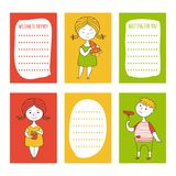 Print templates set vector illustration