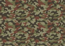 Print texture seamless camouflage green khaki black brown repetitive. Military vector background royalty free illustration