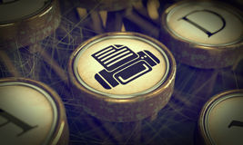 Print Typewriter Key. Grunge Background. Stock Photography