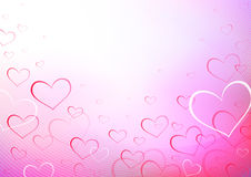 Print. Valentine hearts love waves Royalty Free Stock Photography