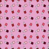 Print with varnish polish. red, pink, maroon nail polish. print Royalty Free Stock Photo