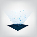 Print. Vector abstract background technology concept Royalty Free Stock Image
