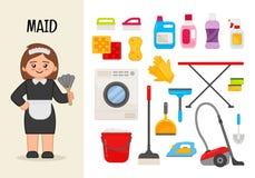 Vector character maid. stock illustration