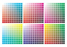 Vector color palette on A4 format. Paper size 297 x 210 mm stock illustration