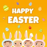 Vector Happy Easter poster. vector illustration