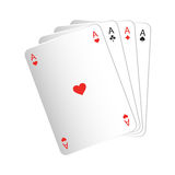 Print vector illustration Playing cards four aces isolate Stock Images